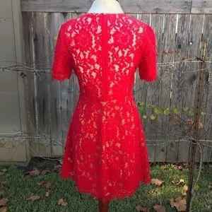 Lush Dresses - Red Lush Lace Cocktail Dress